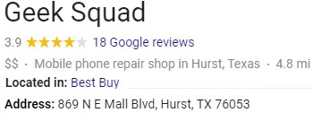 Geek Squad Hurst Reviews